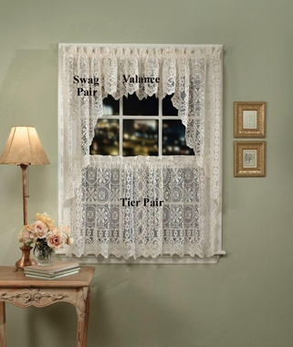 Hopewell Lace Tier Curtains