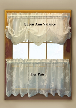 Tier Curtain Pair - Leeanne Lace