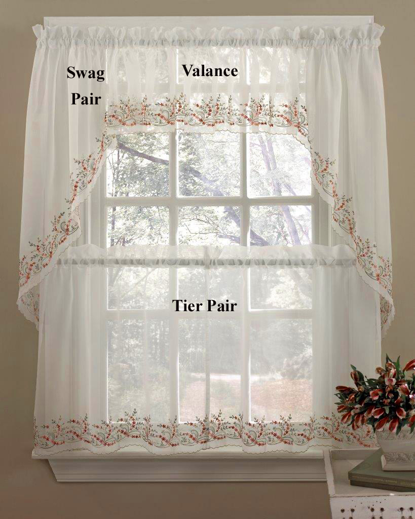Heather Tier Kitchen Curtains