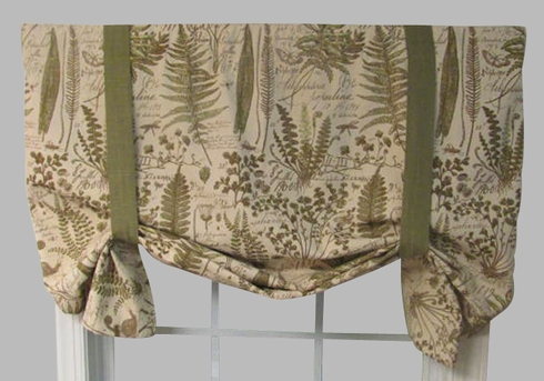 Botanical Toile Tiverton Butterfly Valance - Closing Out