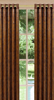 Tortoise Shell  Bamboo Grommet Panel - Espresso - SOLD OUT