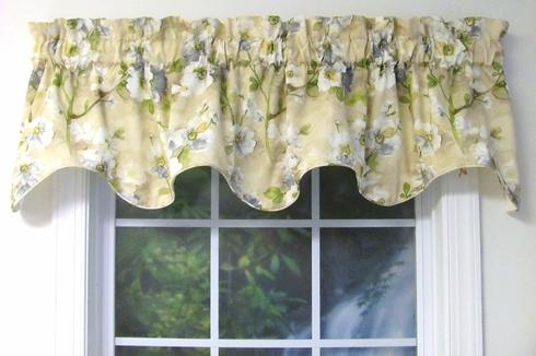 Tree Blossom Natural Cambridge Valance