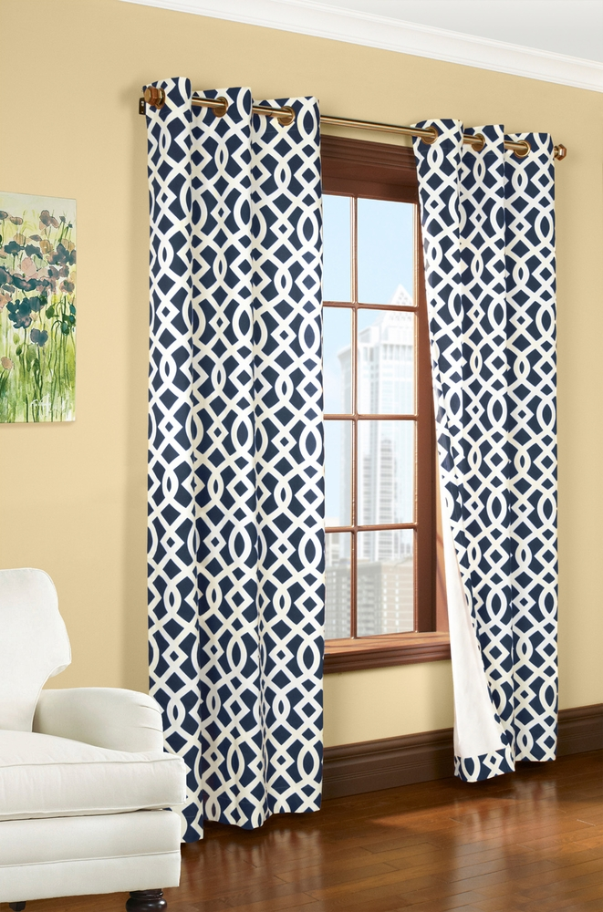 Thermalogic Trellis Grommet Curtain Panels