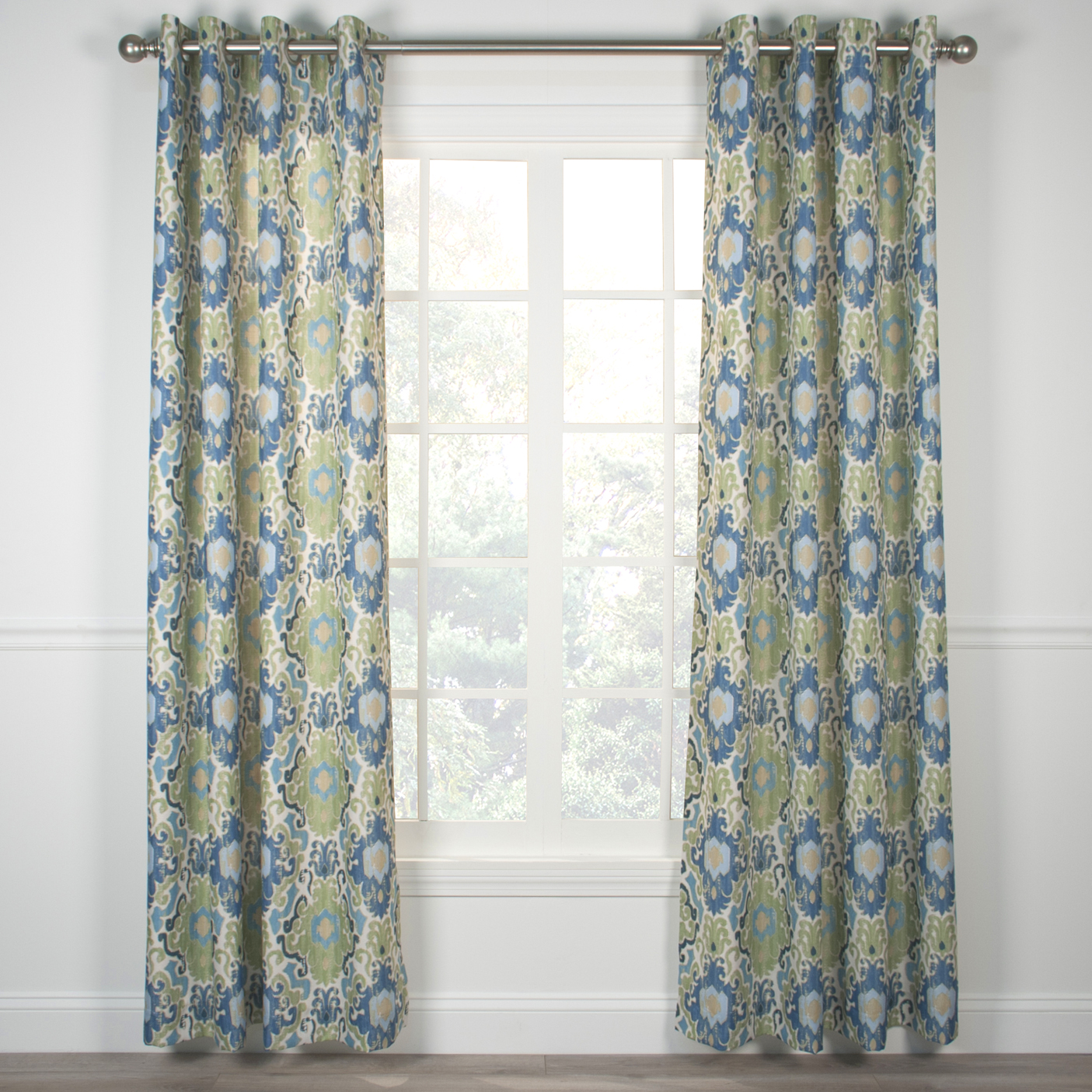 Tuscany grommet top curtain panel for Grommet curtains
