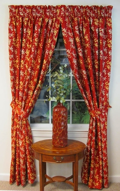 Unlined Rod Pocket Curtain Panel - Olde Towne - Almost Custom