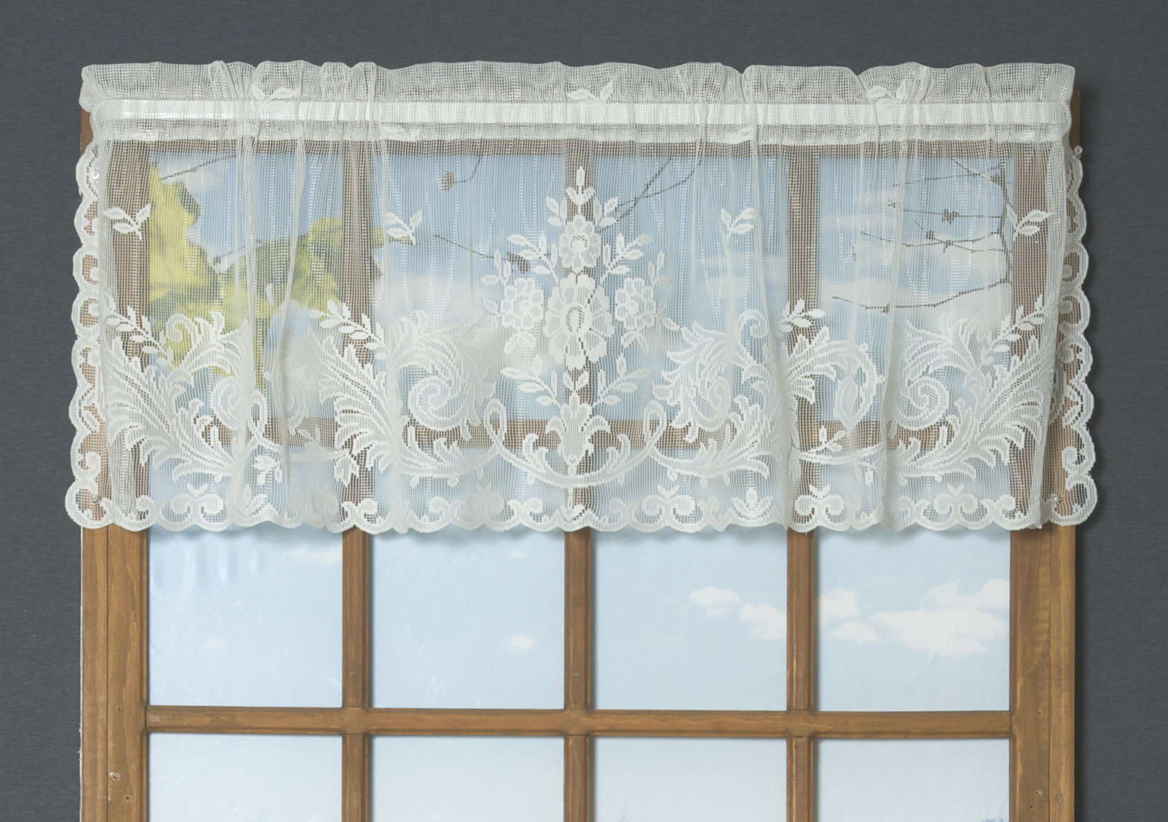 valence macrame bise alliance cafe inc brise in lace height htm valance curtains curtain