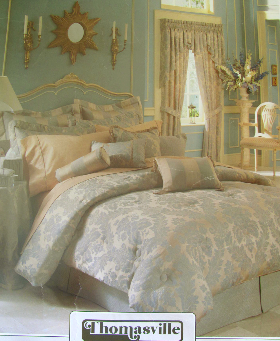 Comforter set bedding curtain valance the curtain shop - Complete bedroom sets with curtains ...