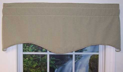 Vivian Lined Corded Valance - Colburn Check - CLEARANCE