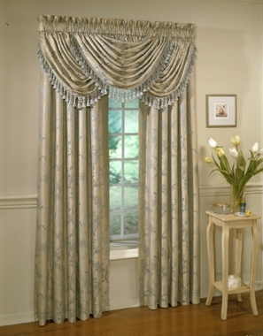 Floral Lustre Water Fall Valance