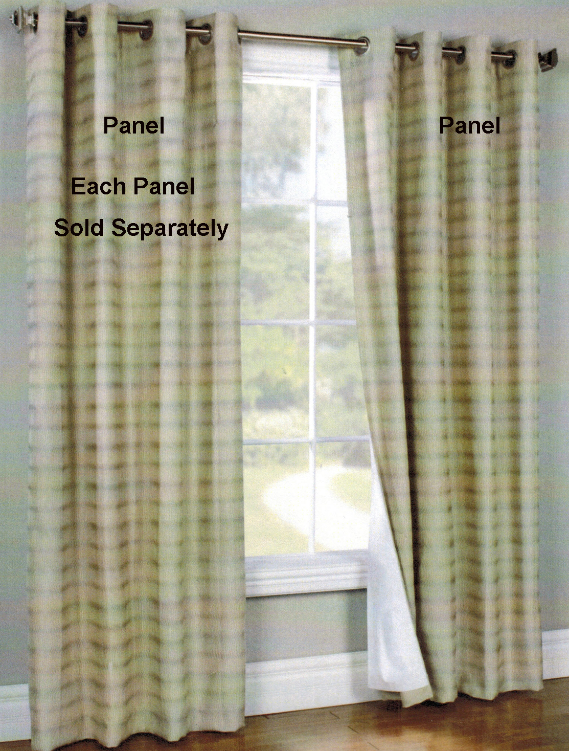 Waves Grommet Top Curtain Panel - Thermalogic