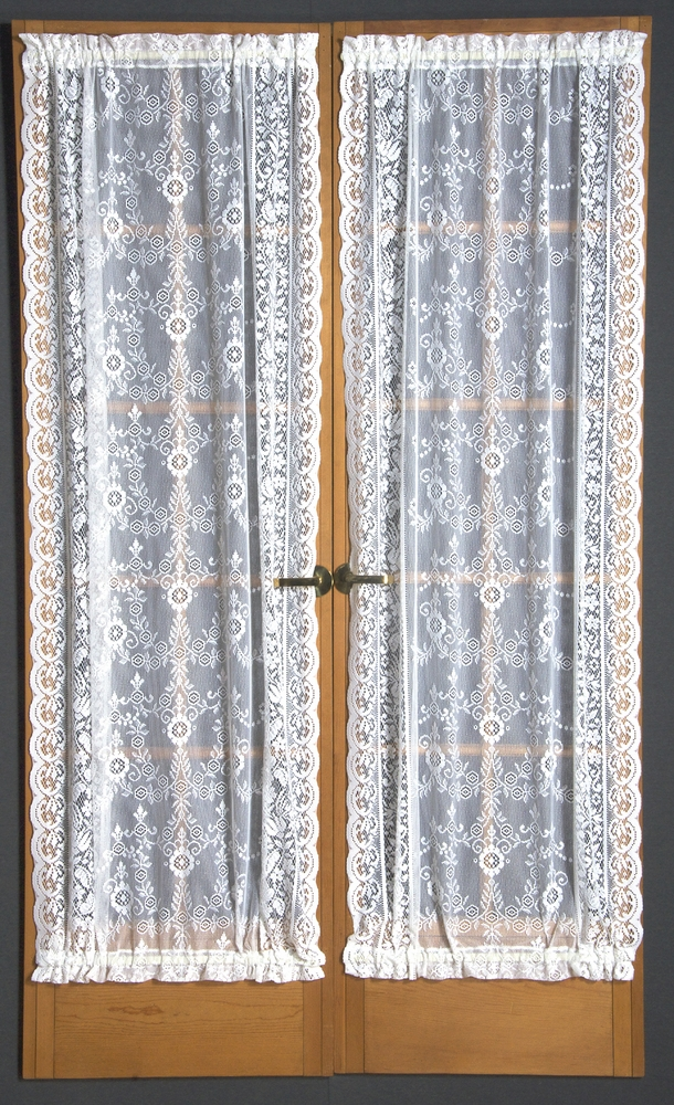 Door Panel Curtains : Windsor lace door panel