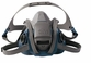 3M Rugged Comfort Half Facepiece Reusable Respirator 6501QL (Small)
