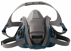 3M Rugged Comfort Reuseable Half Facepiece Respirator 6503QL (Large)