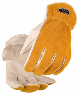 Black Stallion Drivers Gloves - Grain Cowhide Palm/Split Back 97K