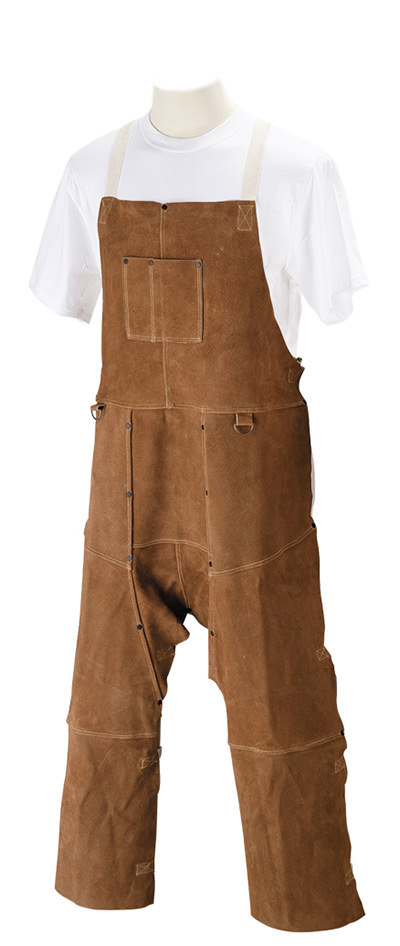 Black Stallion Leather Split-Leg Bib Apron - Split Cowhide 36SL