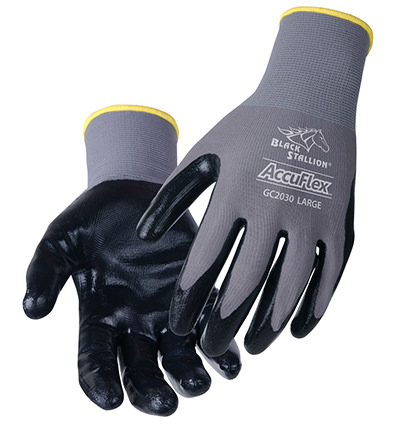Black Stallion Nylon Accuflex gloves - Nitrile Coated GC2030