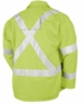 Black Stallion Welding Jacket - FR Lime w/Reflectives JF1012-LM