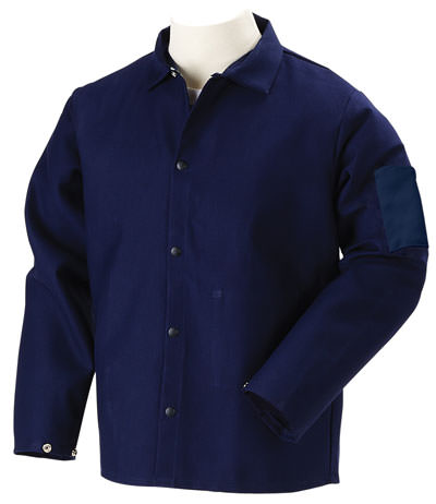 Black Stallion Welding Jacket - FR Navy Blue Cotton FN9-30C