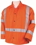 Black Stallion Welding Jacket - FR Orange w/Reflectives JF1012-OR