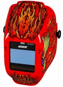 Jackson Welding Helmet - Flaming Butterfly Insight Lens 46109