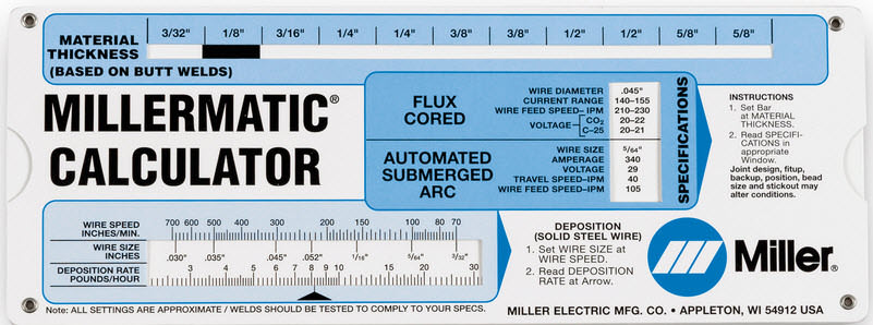 Miller mig welding calculator 086446 greentooth Choice Image