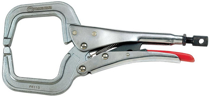 Strong Hand Locking C-Clamp Pliers PR115