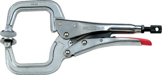Strong Hand Locking C-Clamp w/Swivel Pads PR115S