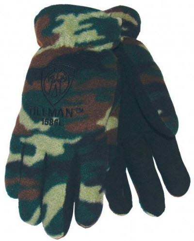 Tillman Camo Polar Fleece Winter Work Gloves - 1586