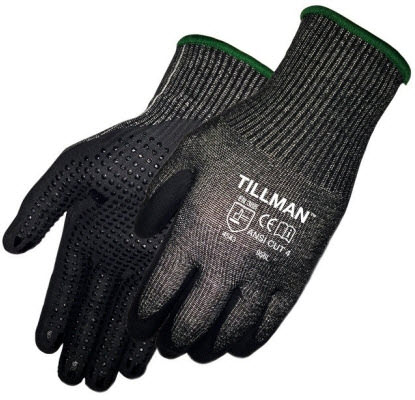 Tillman Cut Resistant Gloves - Dotted Micro Foam Nitrile Coated 956