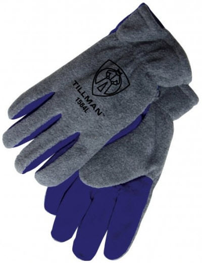 Tillman Gray Polar Fleece Winter Work Gloves - 1584