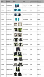 OEM Factory Direct WHOLESALE Cycling Garments & Accessories