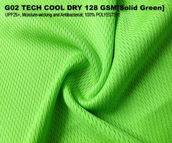 G02 TECH COOL DRY 128 GSM [Solid Green]