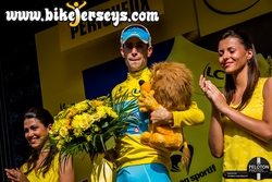 Nibali on the Podium