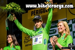 Peter Sagan on Podium TDF 2014