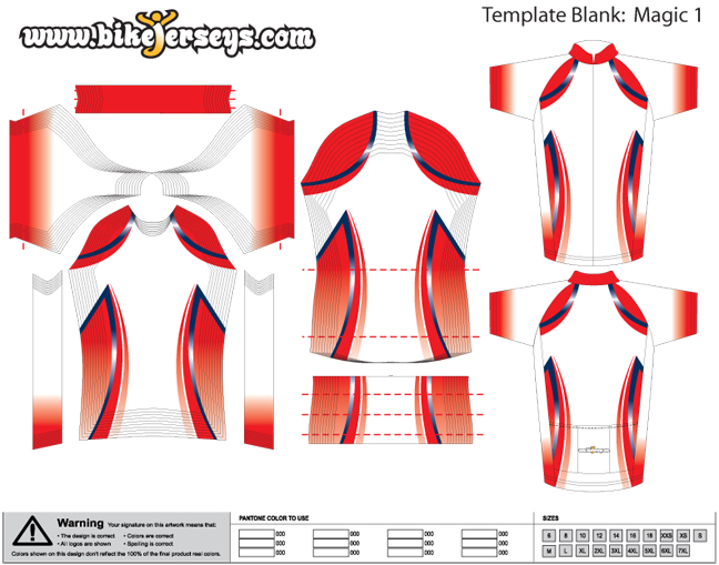 Custom design template magic for Custom cycling jersey template