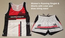Womens Professional Grade Running Top and Shorts SAMPLE