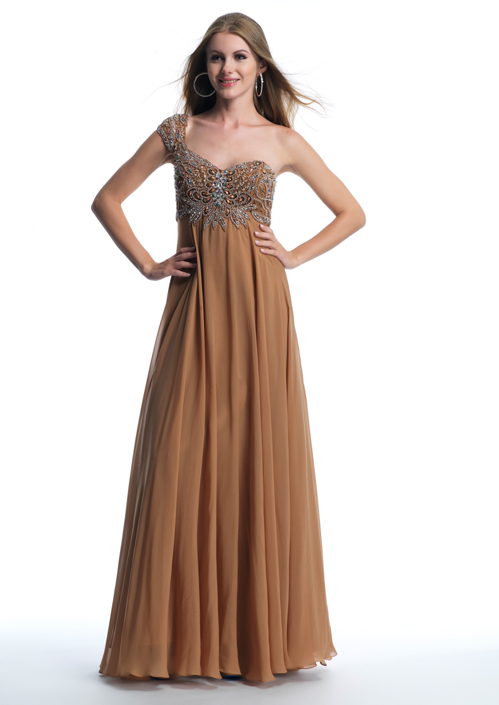 Brown Prom Dresses by Dave and Johnny
