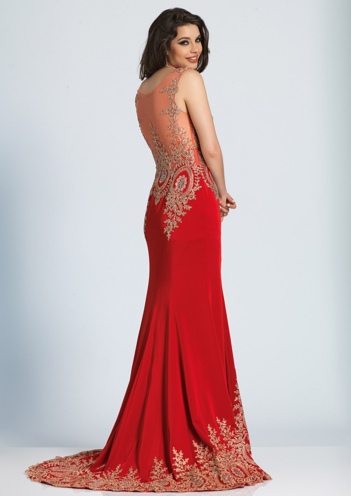 Fancy Strapless Short Prom Dress By Dave & Johnny Motif - Wedding ...