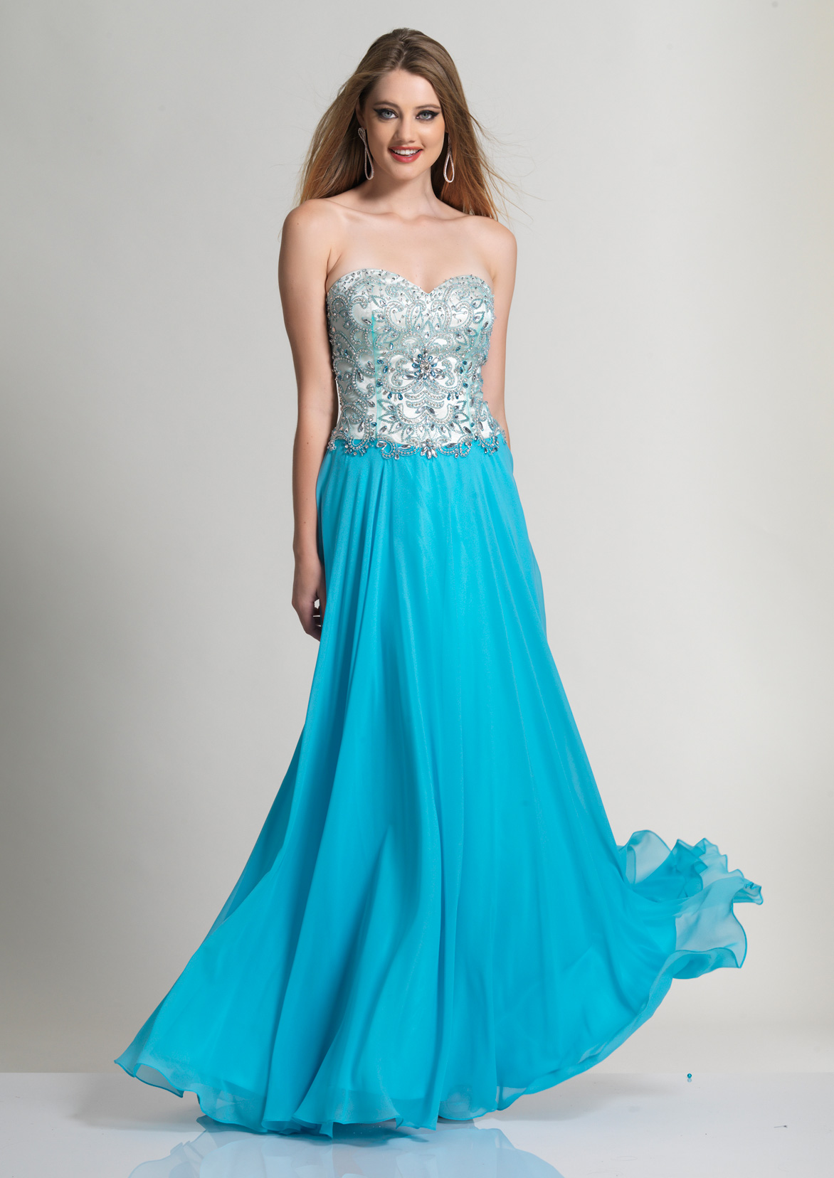 Dave and Johnny Strapless Prom Dresses
