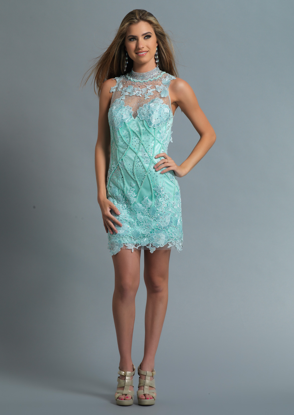 Dave and Johnny Prom Dress 676