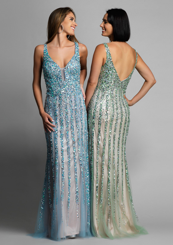 Dave and Johnny Prom Dress 8157