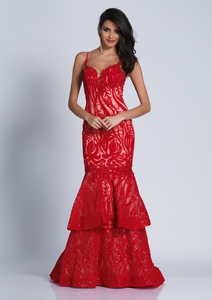 Dave and Johnny Prom Dress A4977