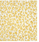 Animal Print Fabric Yellow Swatch