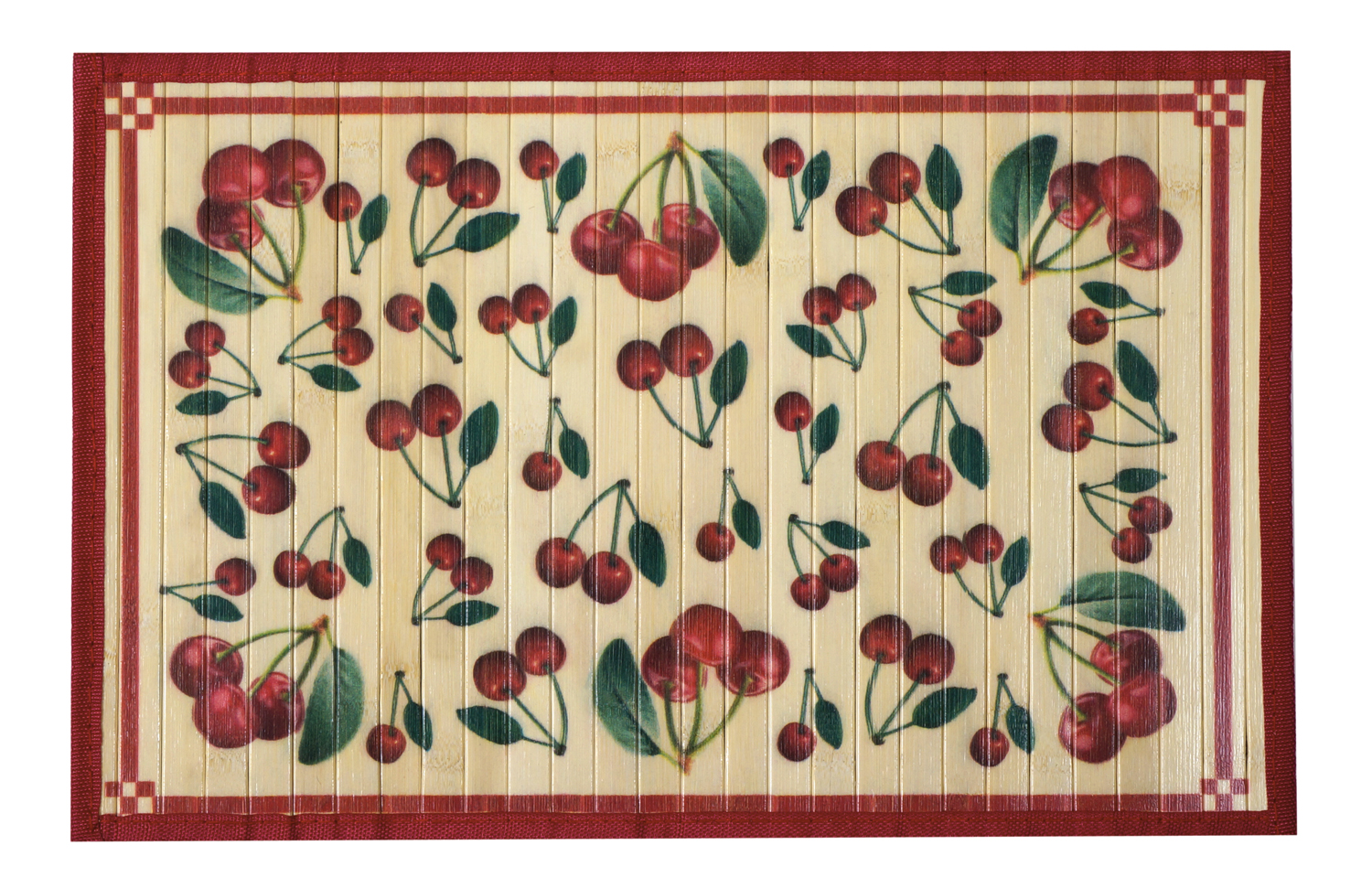 bamboo mat 3x5 cherries