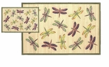 Bamboo Mat 2x3 Dragonfly Purple