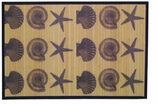 Bamboo Mat Blue Shells
