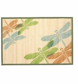 Bamboo Mat Dragonfly Trio 2x3