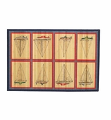 Bamboo Mat Sailboats 3x5
