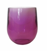 Bar Decor Whiskey Glass Purple