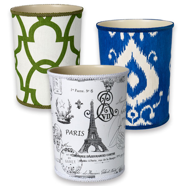add color to bathroom decor our fabric covered bathroom trash cans